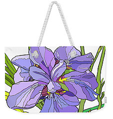 Iris Blossoms Weekender Tote Bag by Jamie Downs