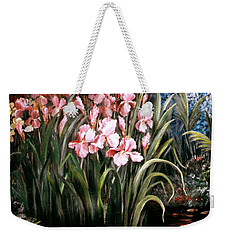 Iris By The Pond Weekender Tote Bag