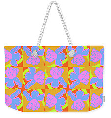 Iris Cartwheel Weekender Tote Bag by Beth Saffer