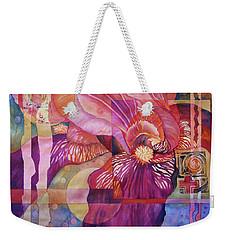 Iris Delight Weekender Tote Bag by Lynda Hoffman-Snodgrass