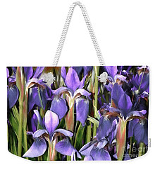 Weekender Tote Bag featuring the photograph Iris Fantasy by Benanne Stiens