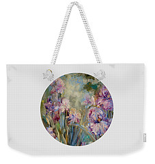 Iris Garden Weekender Tote Bag by Mary Wolf