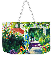 Iris Garden Walkway   Weekender Tote Bag