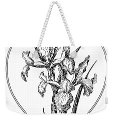 Iris Heart Drawing 3 Weekender Tote Bag