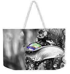 Iris In Black And Color Weekender Tote Bag