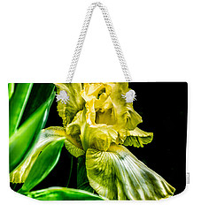 Weekender Tote Bag featuring the photograph Iris In Bloom by Richard Ricci