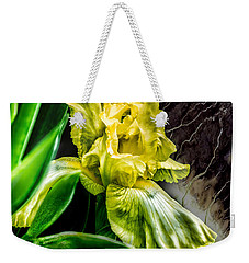 Weekender Tote Bag featuring the photograph Iris In Bloom Two by Richard Ricci