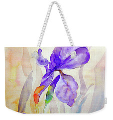 Weekender Tote Bag featuring the painting Iris by Jasna Dragun