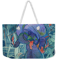 Iris Lace With Wild Columbine Weekender Tote Bag