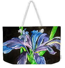Weekender Tote Bag featuring the painting Iris by Lil Taylor