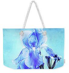 Iris Pair In Blue Weekender Tote Bag