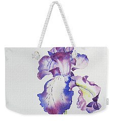Iris Passion Weekender Tote Bag by Mary Haley-Rocks
