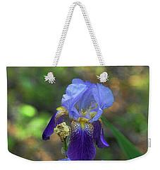 Iris Purple And Blue Weekender Tote Bag
