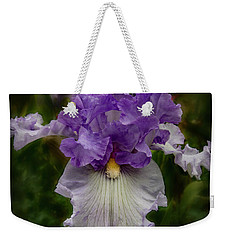 Weekender Tote Bag featuring the photograph Iris Standout by Jean Noren