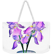 Iris Still Life In A Vase Weekender Tote Bag