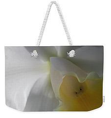 Weekender Tote Bag featuring the photograph Iris Up Close by Ronald Santini