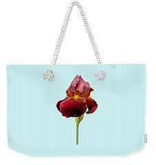 Iris Vitafire Blue Background Weekender Tote Bag