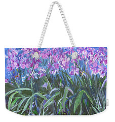 Irises En Mass Weekender Tote Bag by Betty Pieper