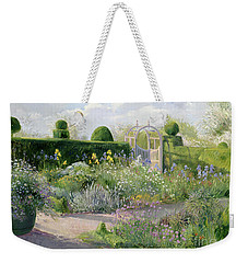 Irises In The Herb Garden Weekender Tote Bag