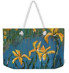 Weekender Tote Bag featuring the painting Irises by Jamie Frier