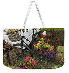 Irish Bike And Flowers Weekender Tote Bag