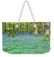 Irish Bluebell Woods - Lissadell, Sligo - New Leaves On The Trees And With A Carpet Of Blue Under Weekender Tote Bag