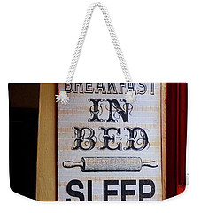 Weekender Tote Bag featuring the photograph Irish Pub Sign by Melinda Saminski