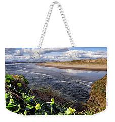 Irish Wild Caltha Flower On The Clifftop Above Tullan Strand In The Spring Sunshine Weekender Tote Bag