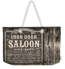 Iron Door Saloon 1852 Weekender Tote Bag