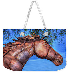Weekender Tote Bag featuring the photograph Iron Horse by Paul Wear