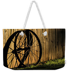 Iron Wheel Weekender Tote Bag by Jay Stockhaus