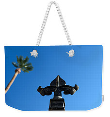 Ironwork Fleur-de-lis With Date Palm Weekender Tote Bag by Stan  Magnan