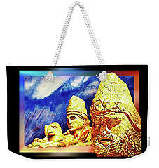 Weekender Tote Bag featuring the painting Irreplaceable   Ancient  Glory by Hartmut Jager