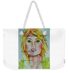 Weekender Tote Bag featuring the painting Irresistible by P J Lewis