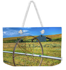 Irrigation Water Wheel Hdr Weekender Tote Bag by James Hammond