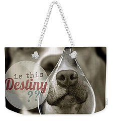Weekender Tote Bag featuring the digital art Is This Destiny by Kathy Tarochione