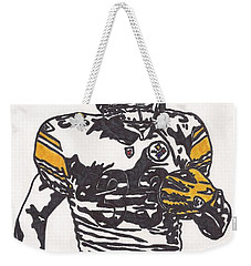 Weekender Tote Bag featuring the drawing Isaac Redman by Jeremiah Colley