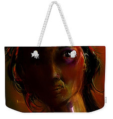 Weekender Tote Bag featuring the painting Isabella by Jim Vance
