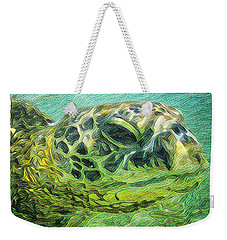 Weekender Tote Bag featuring the digital art Isabelle The Turtle by Erika Swartzkopf
