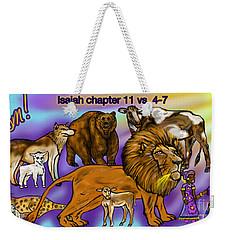 Isaiah 11 Vs 4-7 Weekender Tote Bag
