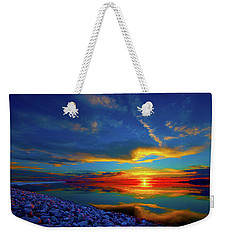 Weekender Tote Bag featuring the photograph Isand Sunset by Norman Hall