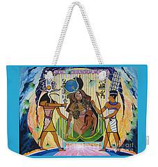 Blaa Kattproduksjoner     Presents Isis Giving Birth To Horus Weekender Tote Bag