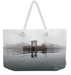 Island Boat Dock Weekender Tote Bag