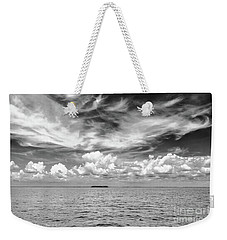 Island, Clouds, Sky, Water Weekender Tote Bag
