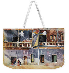 Weekender Tote Bag featuring the painting Island Community by Al Brown
