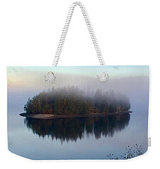 Island In The Autumn Mist Weekender Tote Bag