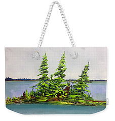 Island Of Firs Weekender Tote Bag
