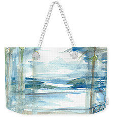 Weekender Tote Bag featuring the painting Island Paradise by Reed Novotny