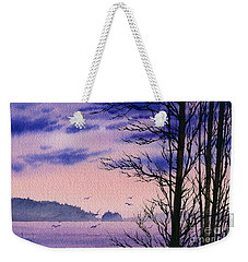Weekender Tote Bag featuring the painting Island Point by James Williamson