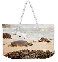 Weekender Tote Bag featuring the photograph Island Rest by Heather Applegate